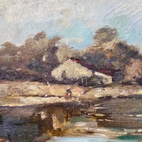Original Landscape Oil Painting on Canvas by R Klein image-2