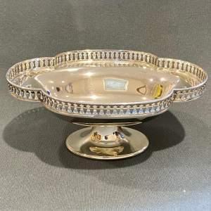 Edwardian Silver Lobed Pedestal Dish