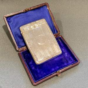 Silver Card Case by Robert Pringle and Sons