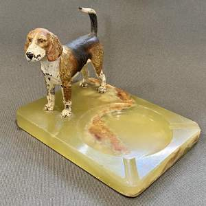 Bergman Cold Painted Bronze Hound