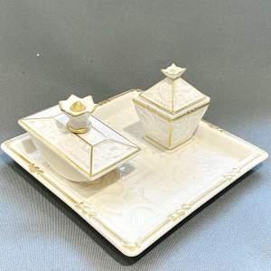 Hutschenreuther Porcelain Desk Set