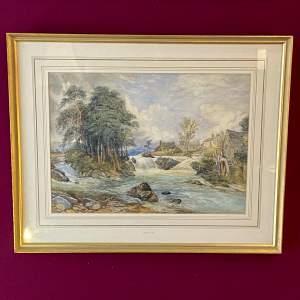 Riverscape Watercolour attributed to David Cox Jnr.