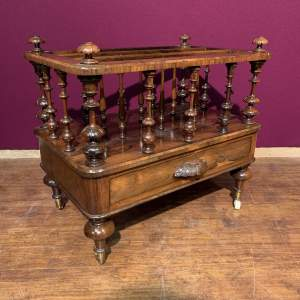 Fine Quality 19th Century Rosewood Canterbury
