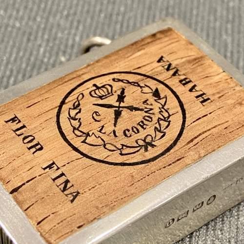 Victorian Silver Vesta Case with Enamel Image of a Cigar Box image-2