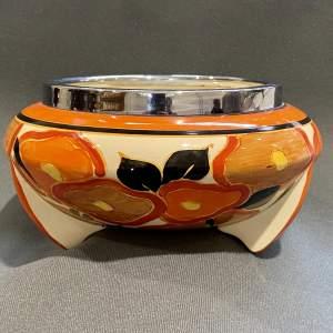 Clarice Cliff Orange Chintz Bowl