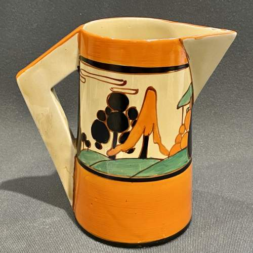 Clarice Cliff Trees and House Conical Jug image-1