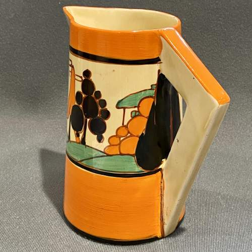 Clarice Cliff Trees and House Conical Jug image-2