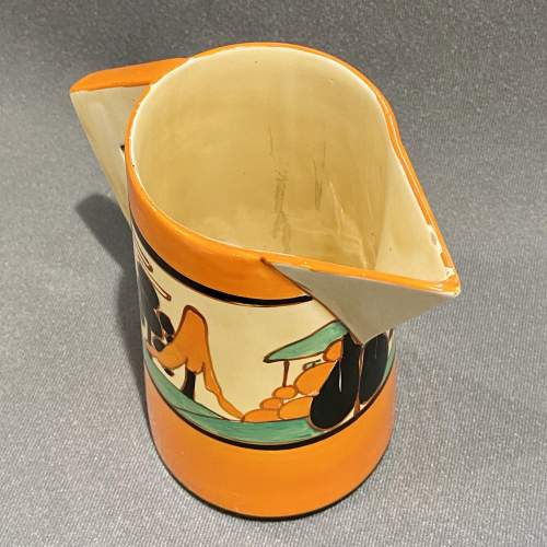 Clarice Cliff Trees and House Conical Jug image-3
