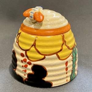 Clarice Cliff Summerhouse Beehive Honey Pot
