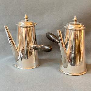 Pair of Elkington and Co Silver Plated Chocolate Milk Pots