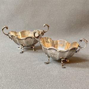 Pair of Late 19th Century Silver Salts