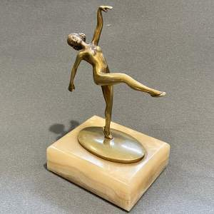 Small Art Deco Bronze Dancer Figure after Lorenzl