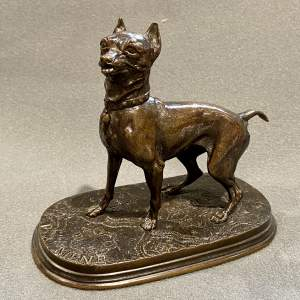 Bronze Figure of a Terrier after PJ Mene