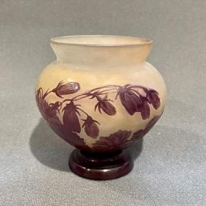 Short Early 20th Century Galle Glass Vase