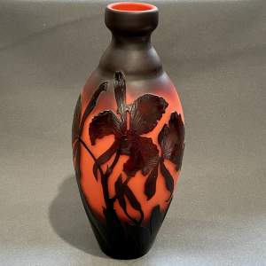 1920s Cameo Glass Vase by Andre Delatte