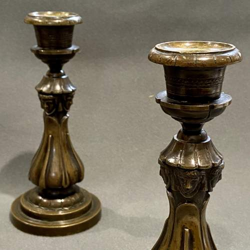 Pair of William IV Bronze Candlesticks image-6