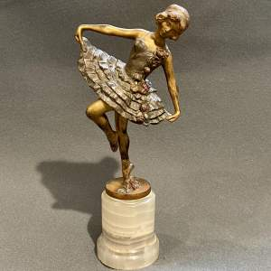 Art Deco Bronze Figure of a Dancer