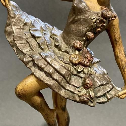 Art Deco Bronze Figure of a Dancer image-3