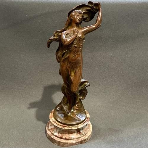 Art Nouveau Bronze Figure of a Lady image-1