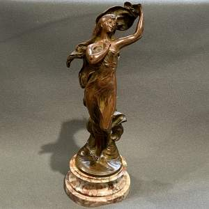 Art Nouveau Bronze Figure of a Lady