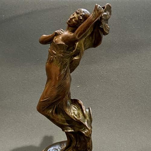 Art Nouveau Bronze Figure of a Lady image-3