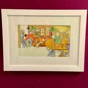 Detective Peabody 1 Original Watercolour by Ken Kirkwood