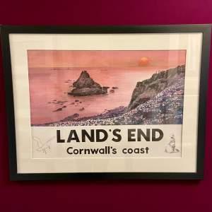Lands End Cornwalls Coast Watercolour by Vic Millington