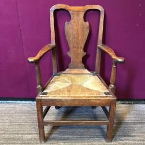 Georgian Oak Carver Chair