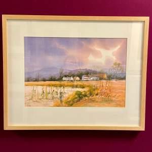 Original Tim Nash Watercolour Landscape Scene