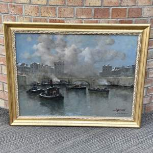 Early 20th Century Continental School Harbour Watercolour