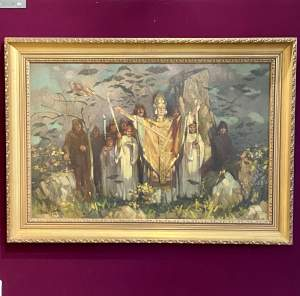 Original Benjamin Smith Oil on Canvas of St Patrick