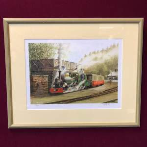 Limited Edition Ex Penrhyn Hunslet Blanche Print