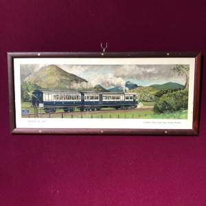 Travel in 1910 Original Railway Carriage Print
