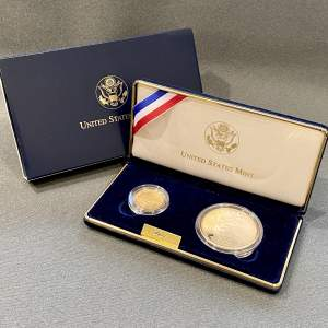 USA 2002 Proof Gold Five Dollar and Silver One Dollar Coin Set