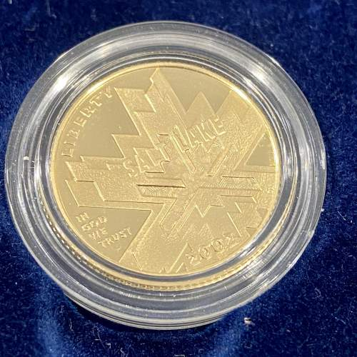 USA 2002 Proof Gold Five Dollar and Silver One Dollar Coin Set image-4