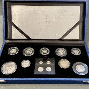 Queen Elizabeth II 80th Birthday Silver Proof Coin Collection