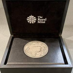 Pistrucci Waterloo Silver Medal struck by the Royal Mint