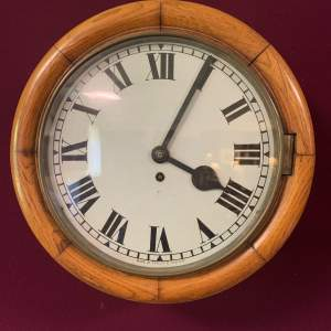 Thameside of Manchester Oak Cased Fusee Wall Clock