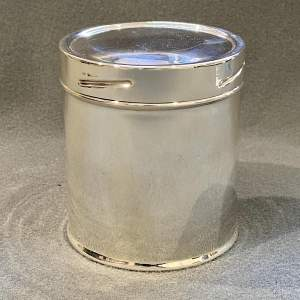 Mappin and Webb Sterling Silver Tea Caddy