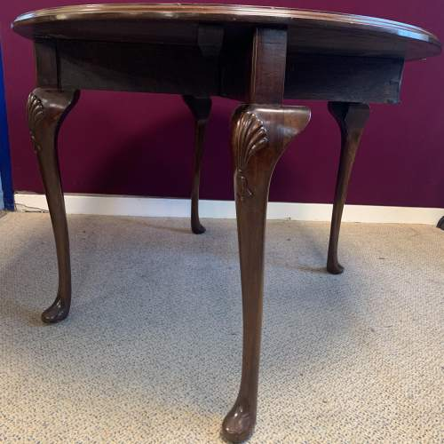 Antique Mahogany Drop Leaf  Dining Table image-3