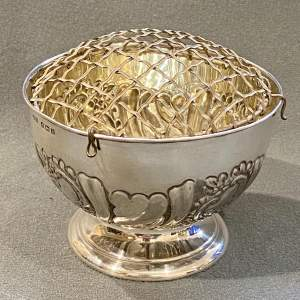 Edwardian Silver Rose Bowl