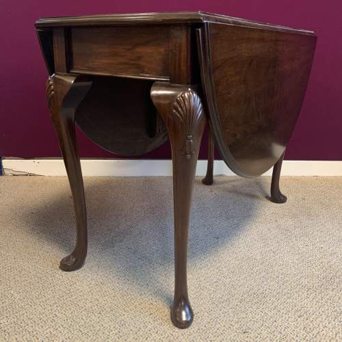 Antique Mahogany Drop Leaf  Dining Table image-1