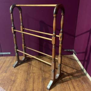 Victorian Pine Double Sided Towel Rail