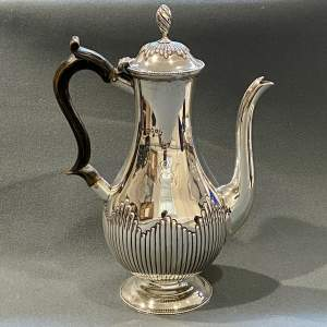 Victorian Silver Coffee Pot