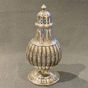 Victorian Highly Decorative Silver Pepper