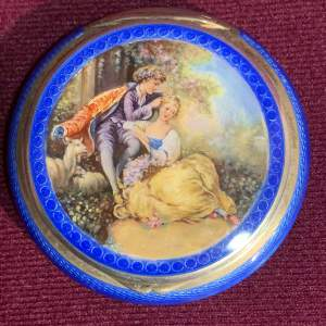1920s German Silver and Enamel Compact