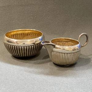 Victorian Silver Cream Jug and Sugar Bowl