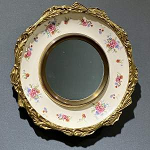 20th Century Burleigh Ware Porcelain and Brass Mirror