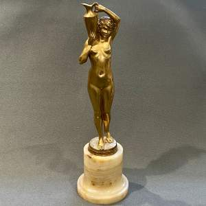 Gilt Bronze Figure of The Water Carrier