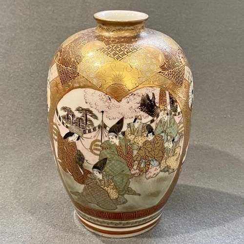Japanese Satsuma Cabinet Vase image-1